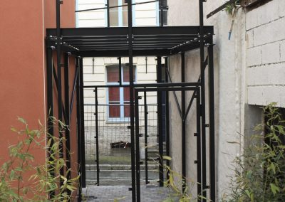 Structure de terrasse en acier
