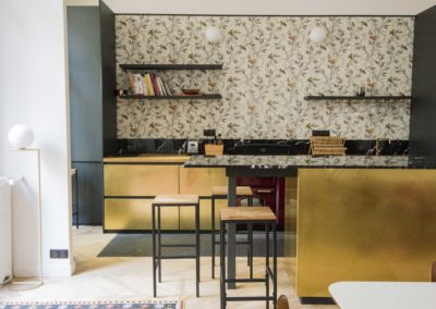Cuisine en laiton Paris - agence Dix9mai