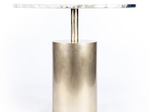 Table en laiton et marbre, Paris, Agence Archipelles
